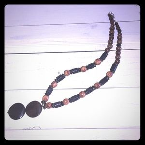 Custom Wood and Decorated Beads Necklace